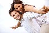 Happy Young Couple Having Fun — Stock Photo