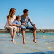 Family Enjoys the Beach — Stock Photo