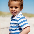 African American Boy Having Fun on a Sunny Summer — Stock Photo