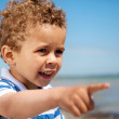 Little Kid Pointing at Something Interesting — Stock Photo