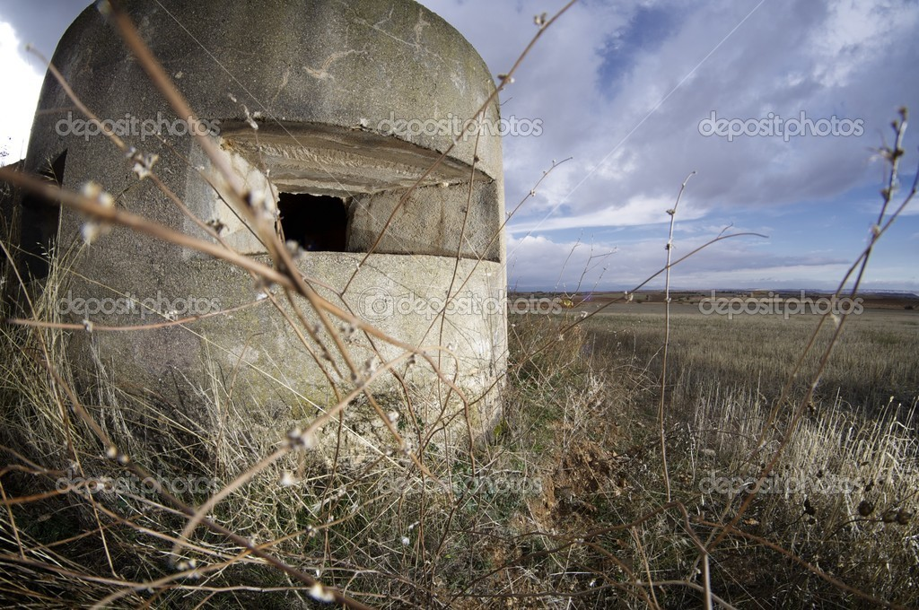Bunker used in the Spanish civil war, Tosos, Saragossa, Aragon, Spain  Stock Photo #10998561