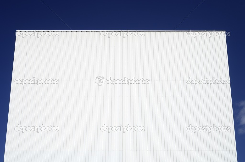 Forefront of the facade of an industrial building  Stock Photo #11429209