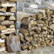 Pile of wood - Stockfoto