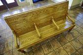 Drewniane siedzenia — Zdjęcie stockowe