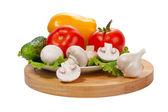 Vegetables on plate — Stock Photo
