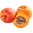 Stock Photo: Ripe apricot fruits