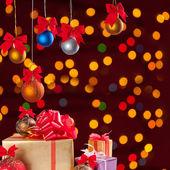 Bolas de natal e presentes 1 — Foto Stock