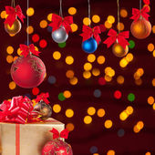 Christmas balls and gifts 2 — Stock Photo