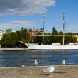 Old Chapman Ship in Stockholm — Stok fotoğraf