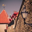 Wall lantern in Old Town — Stock Photo