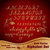 Vector alphabet set — Stock Vector
