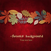 Red autumn vector background — Vector de stock