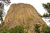 Rock pinnacle on a cloudy day — Foto Stock