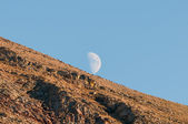 Moon over the Mountain — Stock Photo