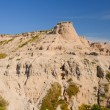 Stock Photo: Weathered Escarpment in Badlands