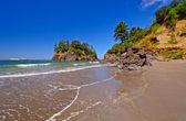 Rocks and sand on a Pacific Coast Beach — Stock Photo