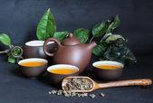 Green Tea Ceremony — Stock Photo
