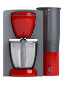 Red coffee maker — Stock Photo