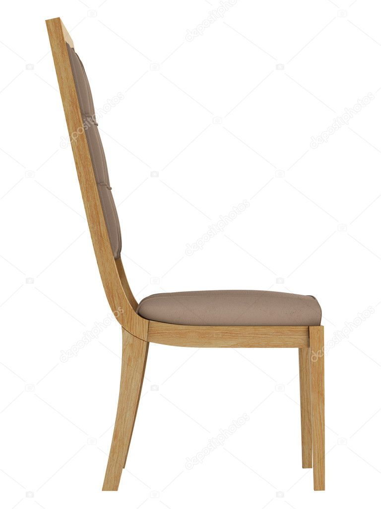 Antique wooden chair isolated on white background — Stock Photo #11429150