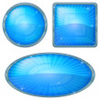 Icons buttons blue, set — Stockfoto