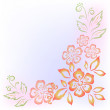 Abstract flower background - 图库照片