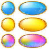 Colorful buttons, set — Stock Vector