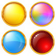 Colorful round buttons, set — ストック写真