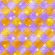 Abstract gold and lilac seamless plaid — Stock Photo