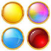 Colorful round buttons, set — Stock Photo