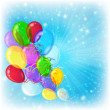 Stock Photo: Holiday background with balloons