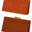 Brown leather wallets, set — Stock Photo