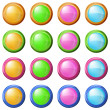 Stock Photo: Colorful round buttons, set