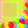 Holiday background with balloons — Stock Photo
