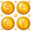 Buttons with currency signs, set — Stock Photo #10998820