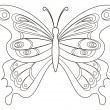 Stock Photo: Butterfly, contours