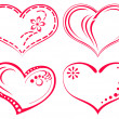 Stock Photo: Valentine heart, set