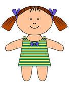 Ragdoll, dívka — Stock fotografie