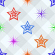 Seamless background, stars on a checkered — Stock Photo