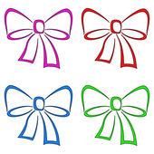 Bows, set, pictogram — Stock Photo