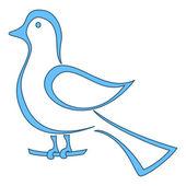Blue bird on a branch — Stock Photo