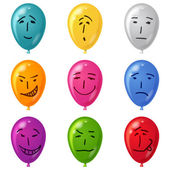 Balloon, set, smilies, eps10 — Stock Vector