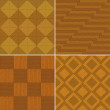 Stock Photo: Wood parquet, seamless, set