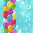 Balloon background seamless — Stock Photo
