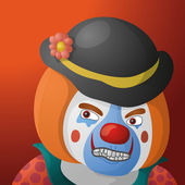 Clown angry — Stock Photo