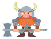 Dwarf warrior — Stock Vector