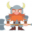 Dwarf warrior — Stock Photo