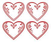 Valentine heart, pictogram, set — Stock Vector