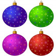 Christmas-tree decorations, set — Stock Photo