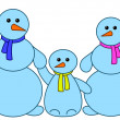 Snowballs family — Stock Photo