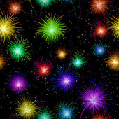 Fireworks, seamless — Stock Vector